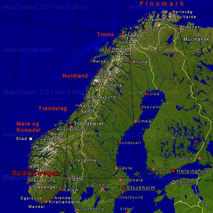 Karte Südnorwegen.Titel Neu